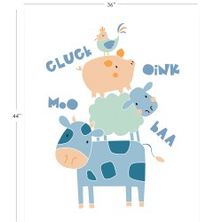 Cluck Moo Oink - Stacked Critters Panel