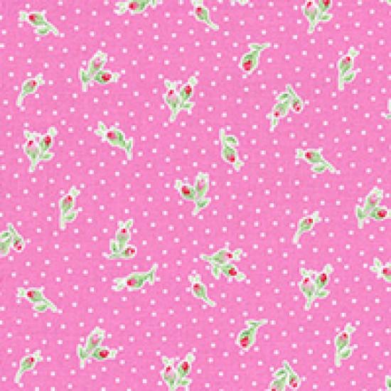 Flower Sugar - Rosebud on pink