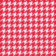 Modern Basics - Houndstooth Red