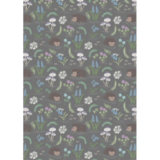 Bluebell Wood - Hedgehog on grey