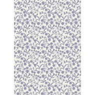"Bluebell Wood - Lavender Floral Silhouette - 48"" Bolt End"
