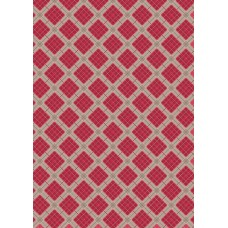 Celtic Reflections - Red Check with Silver Metallic