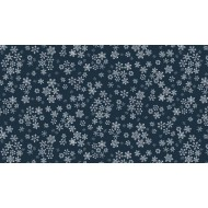 Frosty Snowflake Midnight Blue