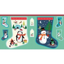 Frosty Large Stocking Panel