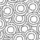 "Monochrome - Circles - Black on White - 60"" Bolt End"