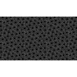"Monochrome - Circles - White on Black - 50"" Bolt End"