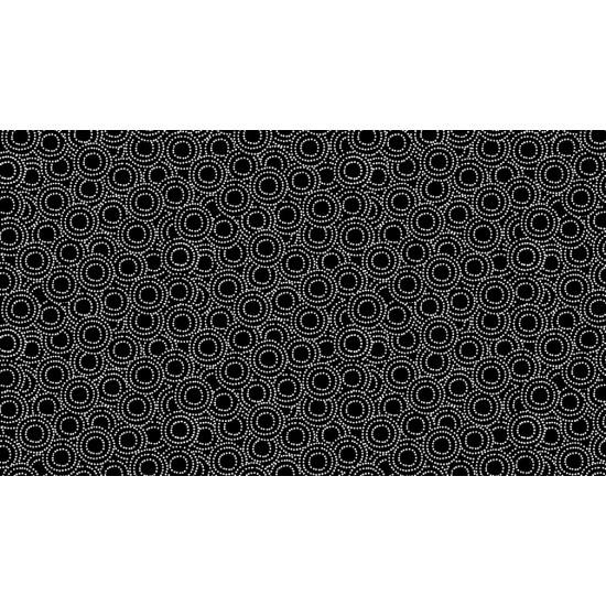 Monochrome - Circles - White on Black