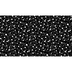Monochrome - Squares - White on Black