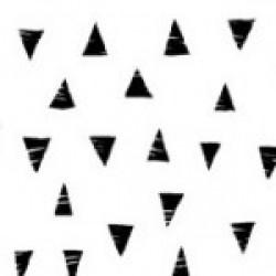 Monochrome - Triangles - Black on White