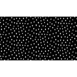 Monochrome - Triangles - White on Black