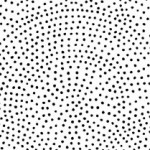 Monochrome - Dotty Scallop - Black on White