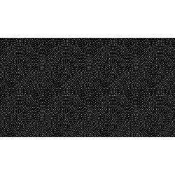 Monochrome - Dotty Scallop - White on Black
