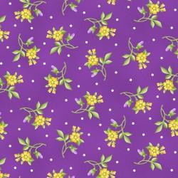 Emma's Garden - Violet Flower Toss