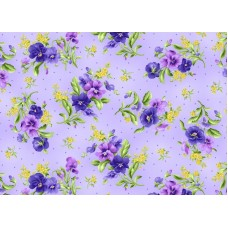 Emma's Garden - Pansy Bouquet Light Purple