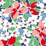 Hi Di Ho - Large Floral Navy Red