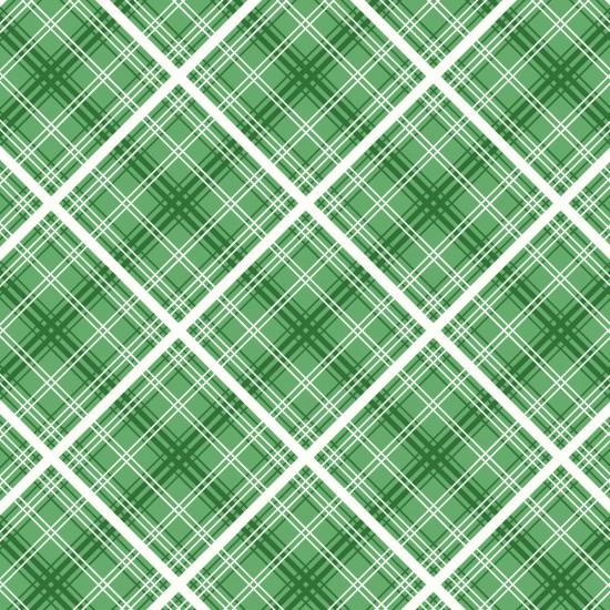 Hi Di Ho - Diagonal Plaid Green