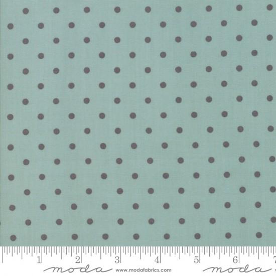 101 Maple Street - Seafoam Grey Deep Dish Dots