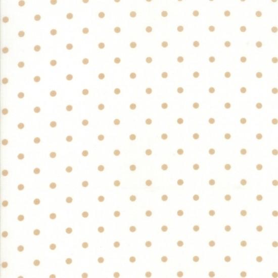 101 Maple Street - Marshmallow Cream Deep Dish Dots