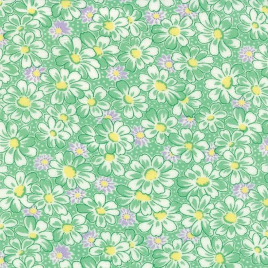 30's Playtime Favorites - Betty's Green Daisies
