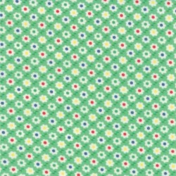 "30's Playtime Favorites - Betty's Green Circle Flower - 59"" Bolt End"