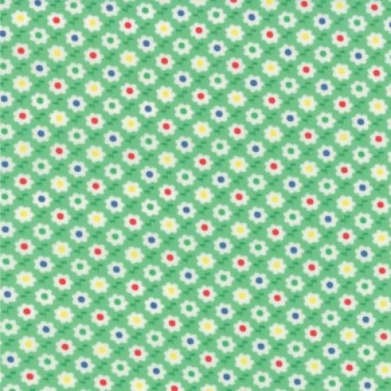 30's Playtime Favorites - Betty's Green Circle Flower