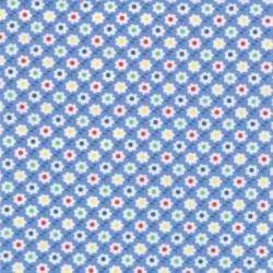 30's Playtime Favorites - Blue Circle Flower