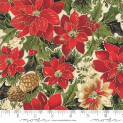 Cardinal Song - Poinsettia and Pine Cream