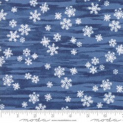 Forest Frost Favorites - Dark Blue Snowflake Metallic