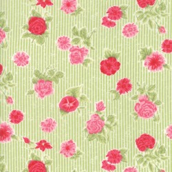 Cottontail Cottage - Cottage Floral Meadow Green
