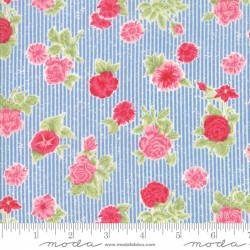 Cottontail Cottage - Cottage Floral Bluebell Blue