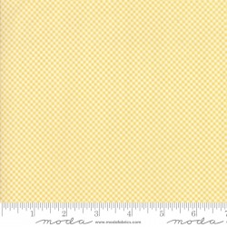 Cottontail Cottage - Tiny Gingham Buttercup Yellow - 1 Cut FQ