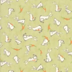Darling Little Dickens - Spring Green Bunnies