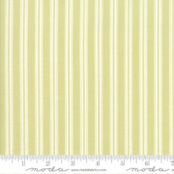 "Darling Little Dickens - Spring Green Ticking Stripe - 37"" Bolt End"