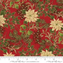 Gilded Greenery Metallics - Crimson Poinsettias