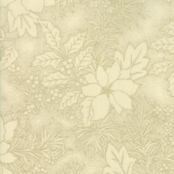 Gilded Greenery Metallics - Cream Poinsettia Toile