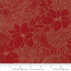 Gilded Greenery Metallics - Crimson Poinsettia Toile