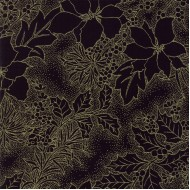 Gilded Greenery Metallics - Ebony Poinsettia Toile