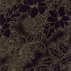 Gilded Greenery Metallics - Ebony Poinsettia Toile
