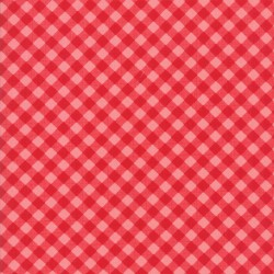 Little Snippets - Little Bias Gingham Red Coral
