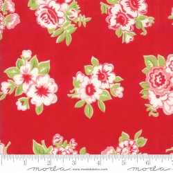 Little Snippets - Marmalade Floral Red