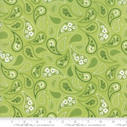 Mama's Cottage - Lime Curtain