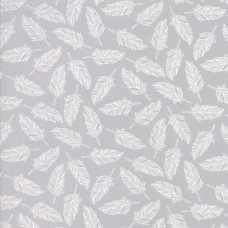 Muslin Mates - White Feather on Grey
