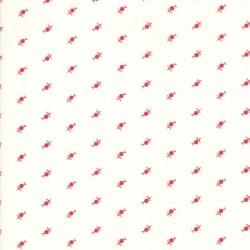 My Redwork Garden - Dandelions Cream Red