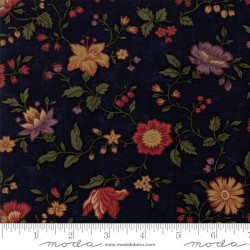 "Nature's Glory - Blue Floral - 46"" End of Bolt"