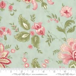Porcelain - Jacobean Floral in Mist - 1 FQ Cut
