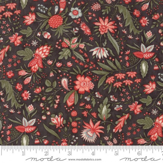 Quill - Charcoal Flourish Floral