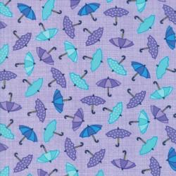 Rainy Day - Pouring Purple Raining Umbrellas