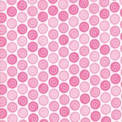 "Rainy Day - Umbrella Pink Sidewalk Crack - 50"" Bolt End"