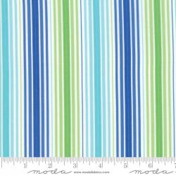 Rainy Day - Green Blue Pouring Stripe