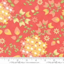 Sundrops - Dark Coral Bouquet - 1 Fat Quarter